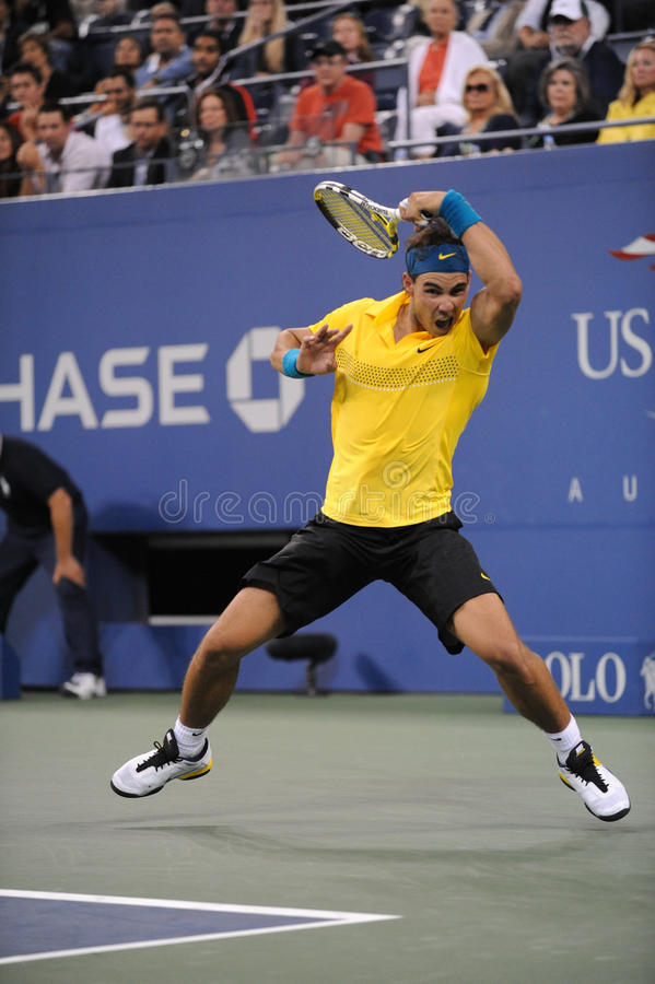 Nadal Rafaël aux USA ouvrent 2009 (76) images stock