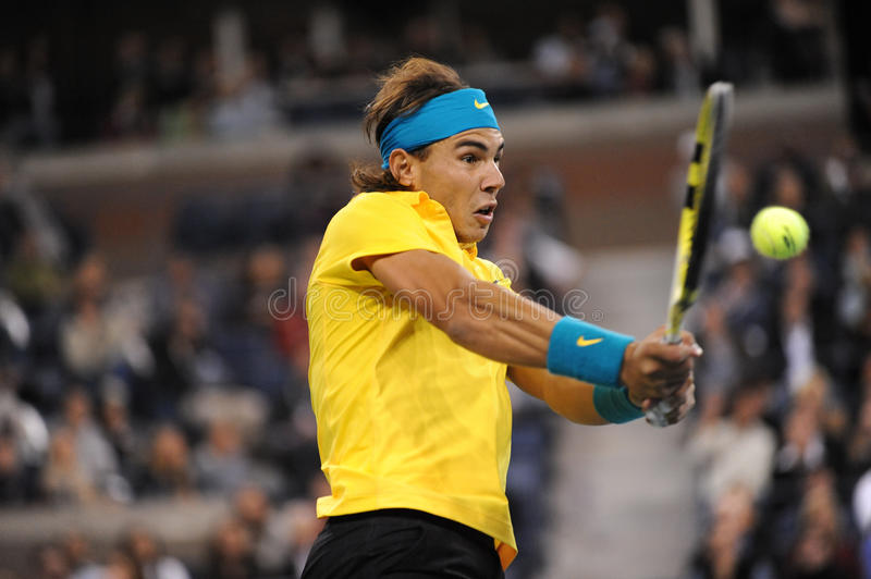 Nadal Rafaël aux USA ouvrent 2009 (9) image stock