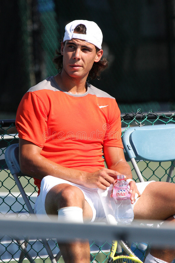 nadal spelarerafael tennis royaltyfria bilder