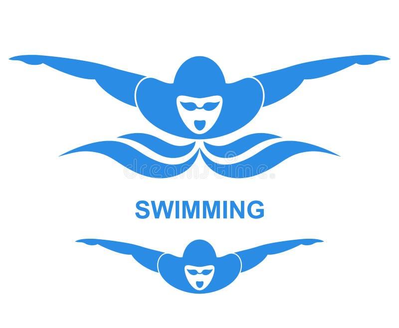 Nadar ilustração stock