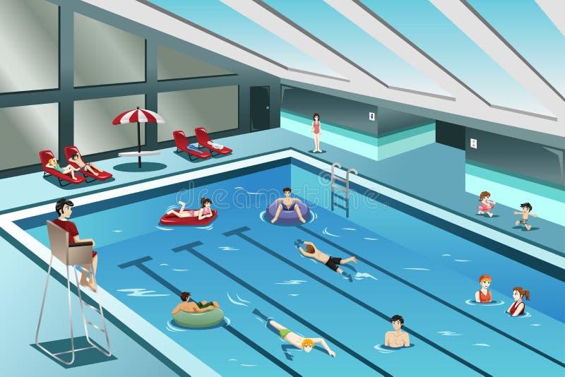 Nadar indo dos povos ilustração royalty free