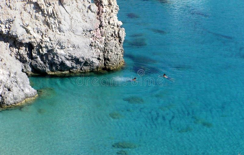 Nadar no paraíso fotografia de stock