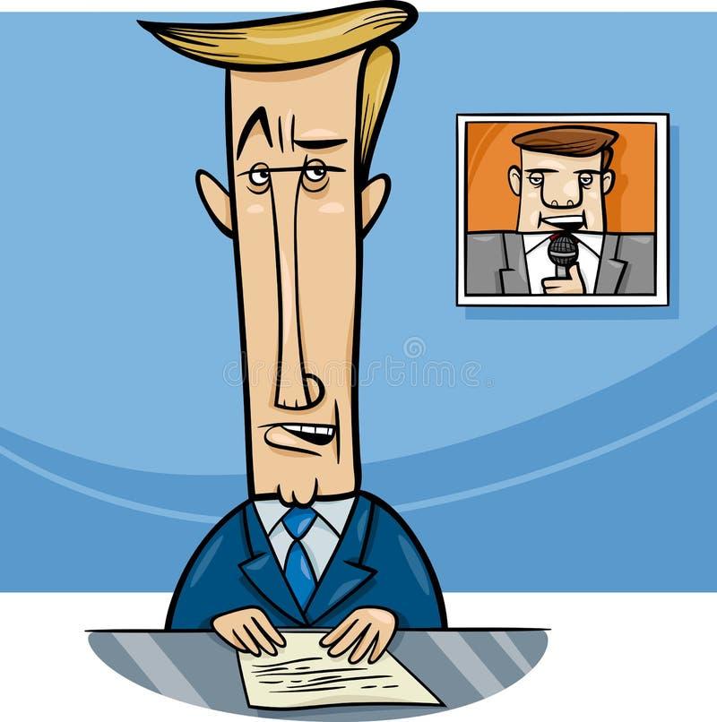 Nadawca na telewizyjnej kreskówce royalty ilustracja