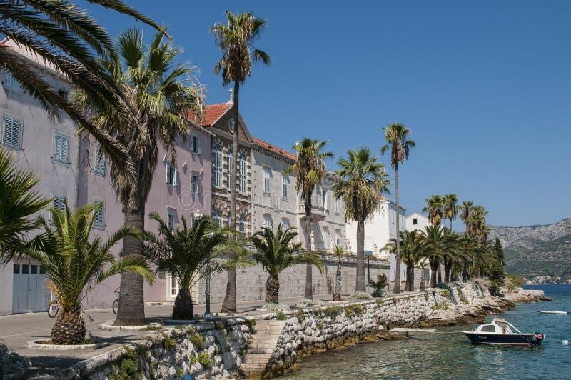 Nadbrzeże, Korcula, Chorwacja zdjęcie royalty free
