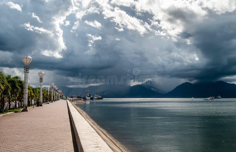 Nadbrzeże w Puerta Princessa, Palawan wyspa, Filipiny obrazy royalty free