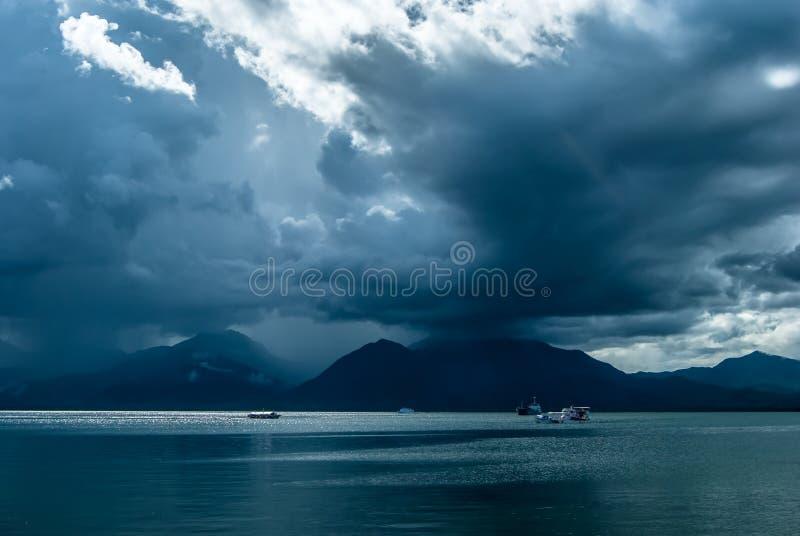Nadbrzeże w Puerta Princessa, Palawan wyspa, Filipiny zdjęcie stock
