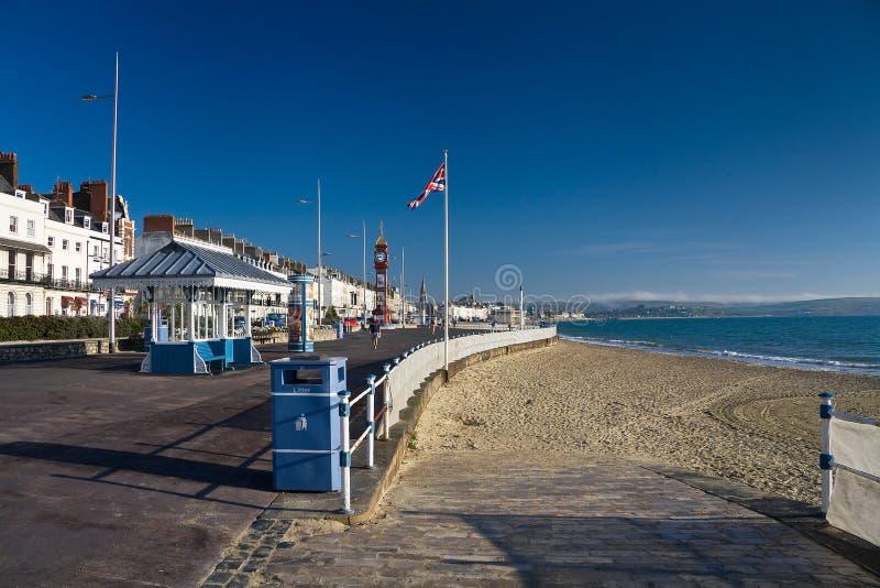 Nadbrzeże w Weymouth, Dorset, UK obrazy royalty free