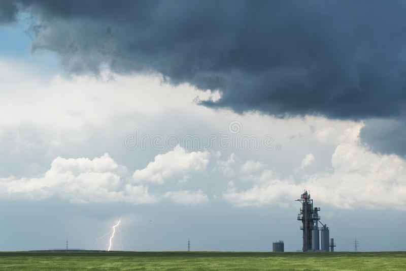 nadchodząca burza zdjęcia royalty free