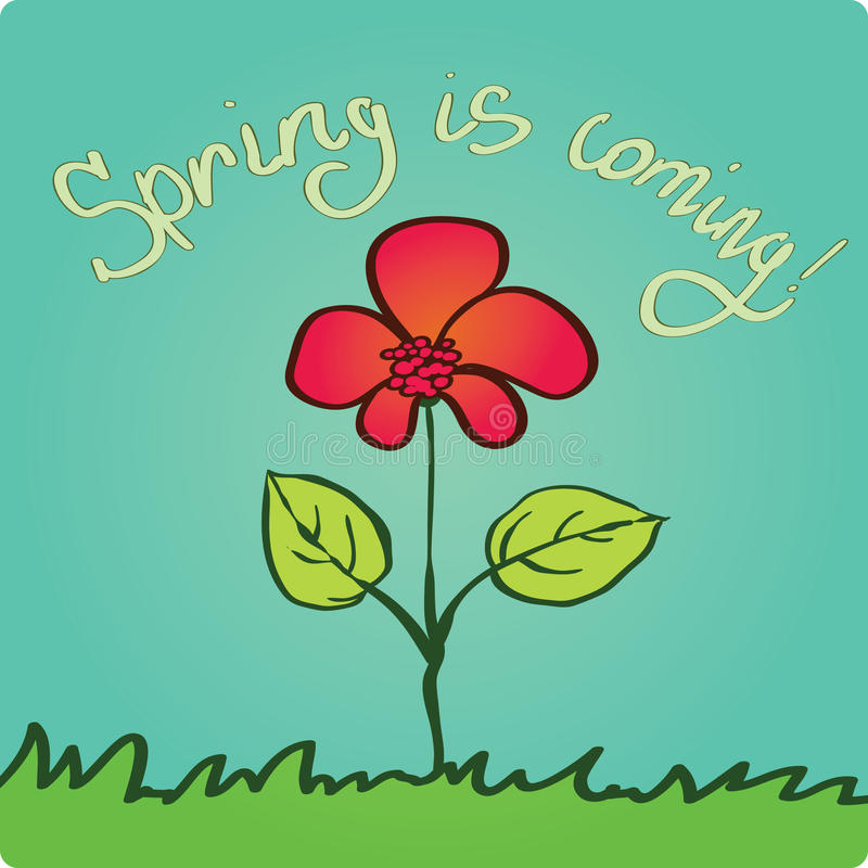 nadchodząca wiosna ilustracji