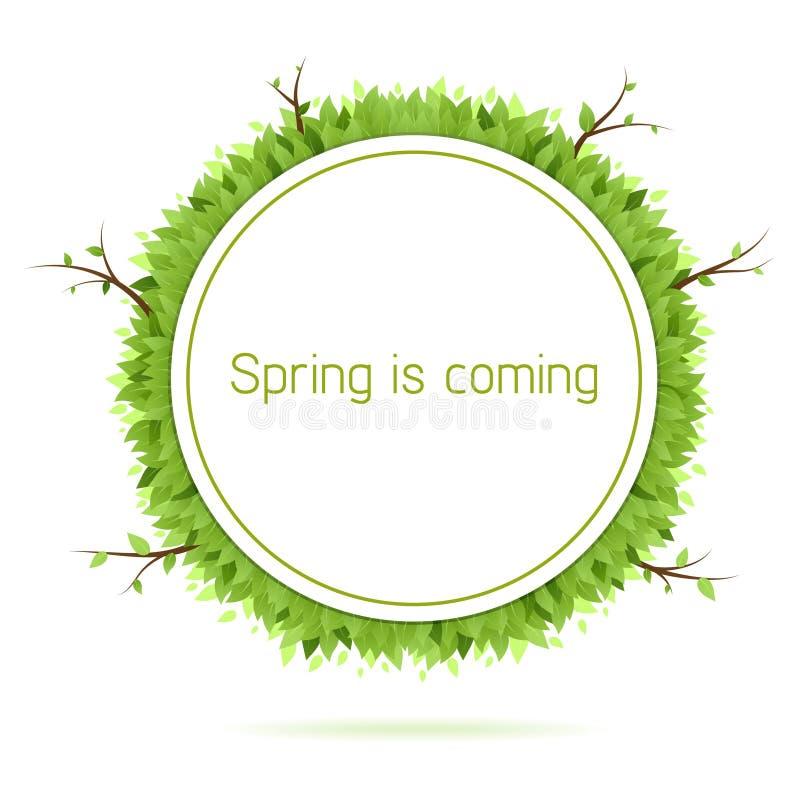 nadchodząca wiosna royalty ilustracja