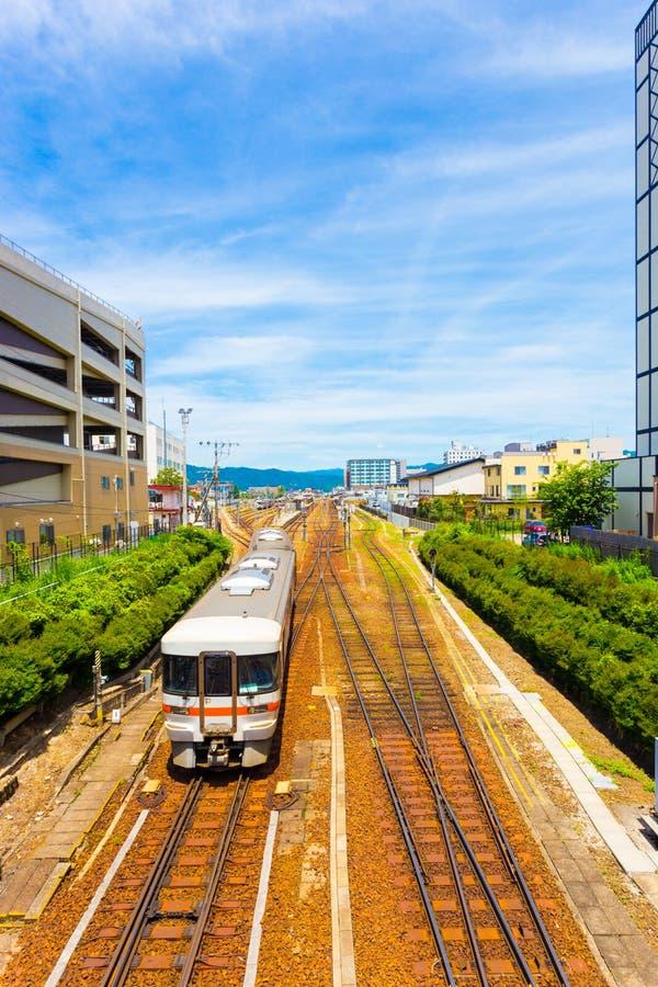 Nadchodzący Taborowy Takayama staci centrum miasta V zdjęcie royalty free