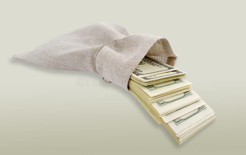 nadchodzący torba dolary zdjęcie royalty free
