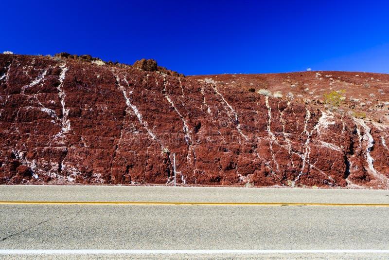 Nadeauproef, Weg 190, het Nationale Park van Doodsvalles stock afbeelding