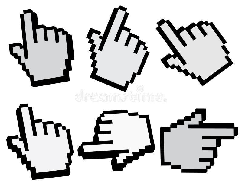 Nadelanzeige der Hand 3d lizenzfreie abbildung