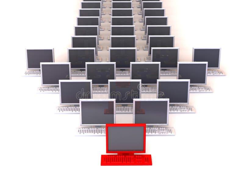 Nadelanzeige vom PC lizenzfreie abbildung