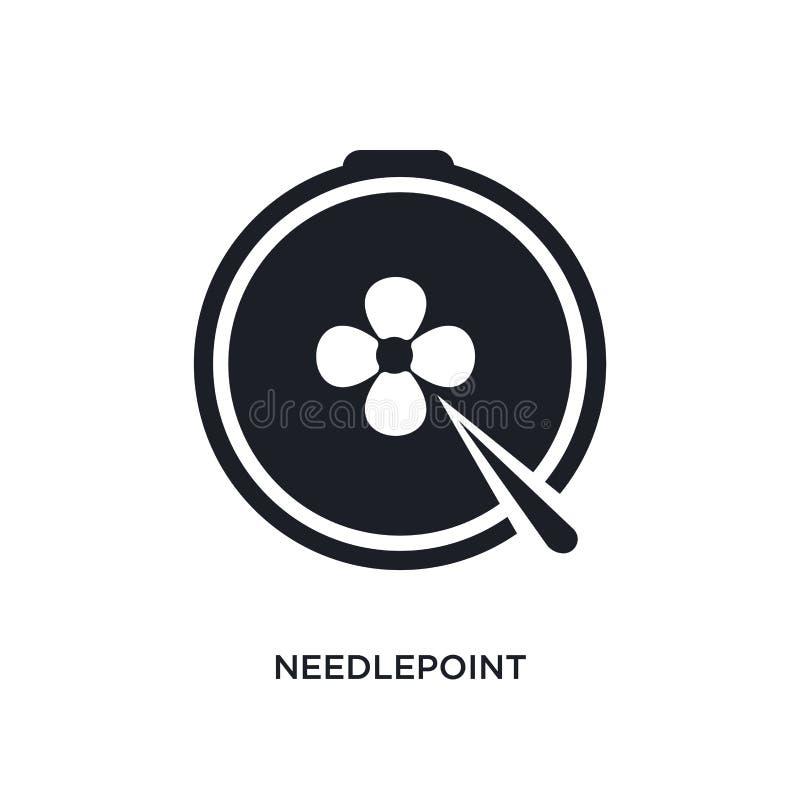 Nadelspitze lokalisierte Ikone einfache Elementillustration von nähen Konzeptikonen Logozeichen-Symbolentwurf der Nadelspitze edi vektor abbildung