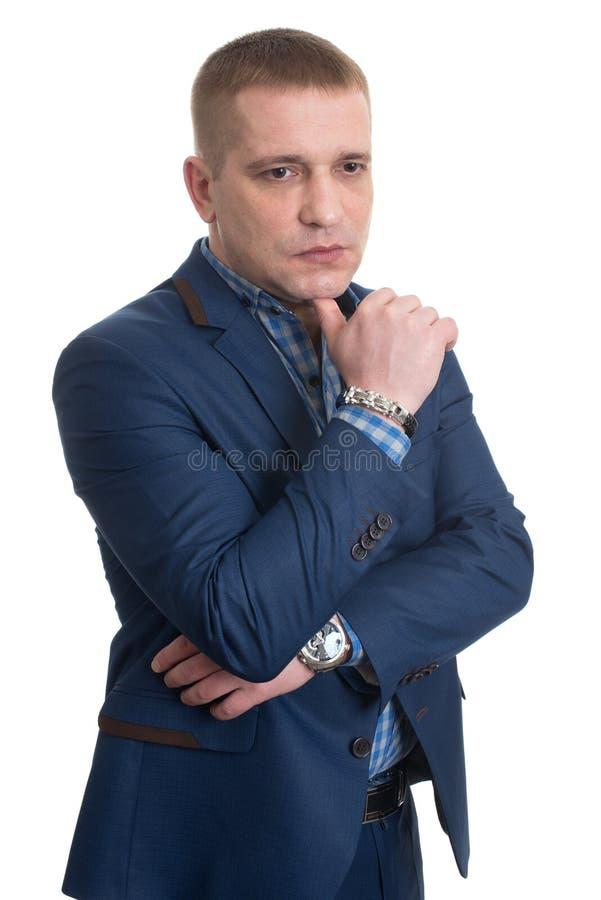 Nadenkend zakenmanportret stock foto