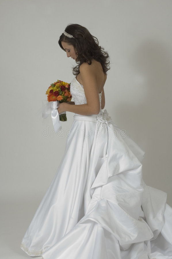 Nadenkende Bruid stock fotografie
