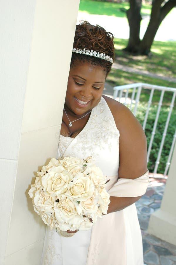 Nadenkende Bruid royalty-vrije stock foto