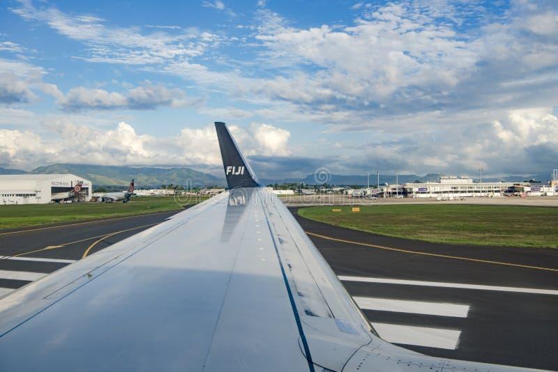 Nadi, aéroport international des Fidji, maison pour Air Fiji photographie stock