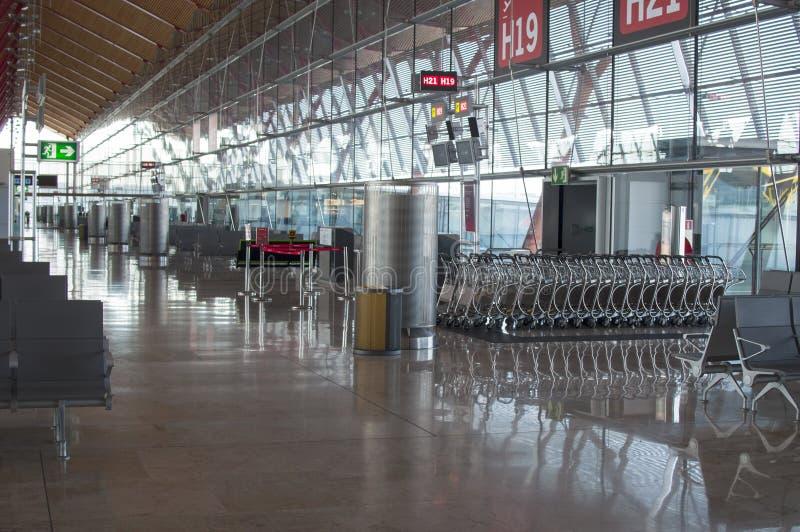 Nadie en el aeropuerto foto de archivo libre de regalías