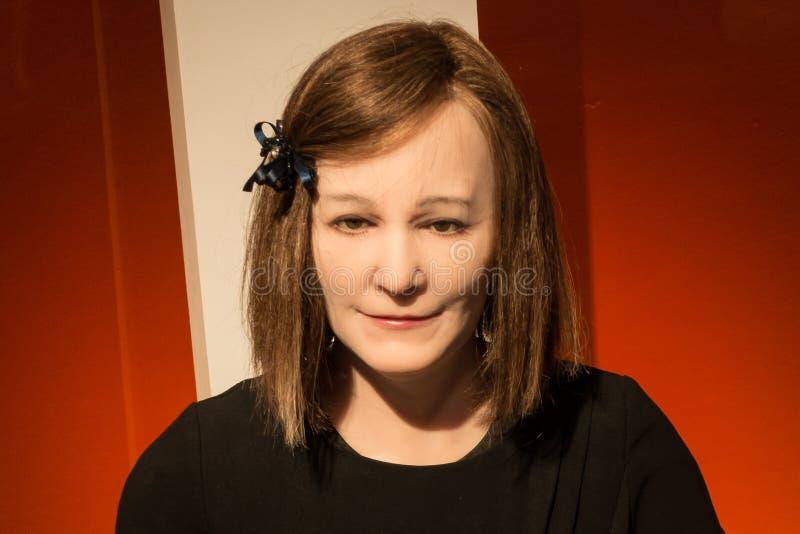 Nadine android, a social robot developed by Nanyang Technological University stock photo