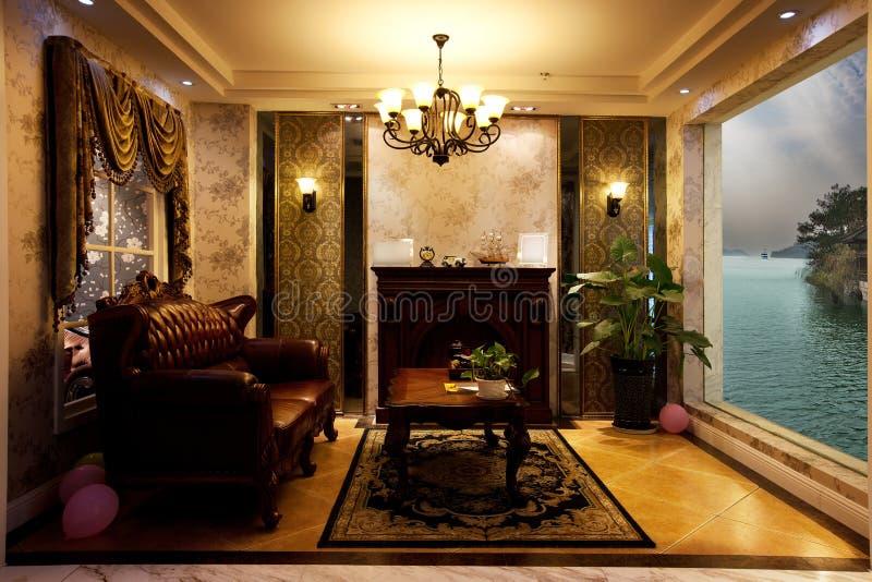 Nadjeziorny recepcyjny pokój obrazy stock