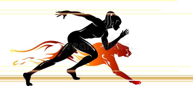 Nadludzka prędkości kobieta ilustracji