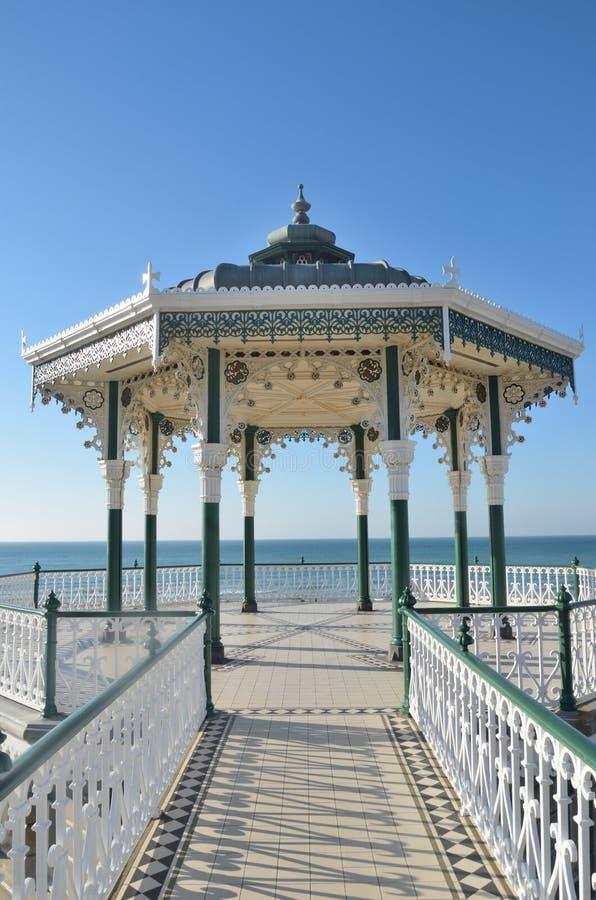 Nadmorski bandstand od przodu obrazy royalty free