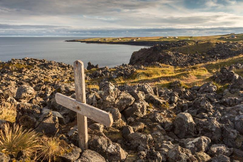 Nadmorski grobowiec obraz royalty free