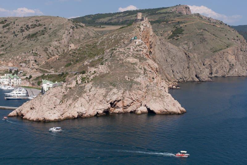 Nadmorski miasteczko na Czarnym morzu zdjęcie royalty free