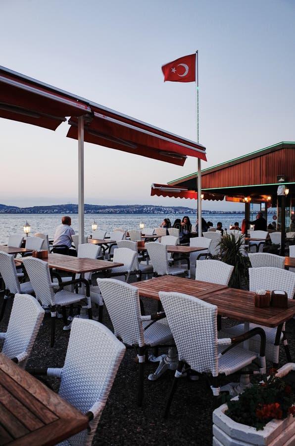 Nadmorski restauracja AYVALIK zdjęcie royalty free