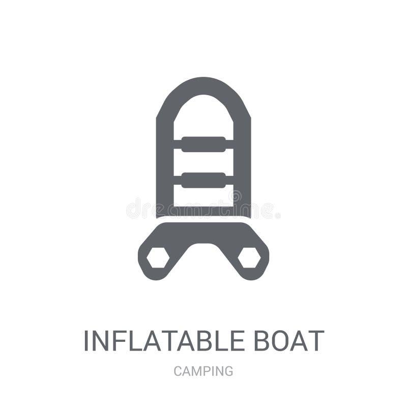 Nadmuchiwana łódkowata ikona  royalty ilustracja