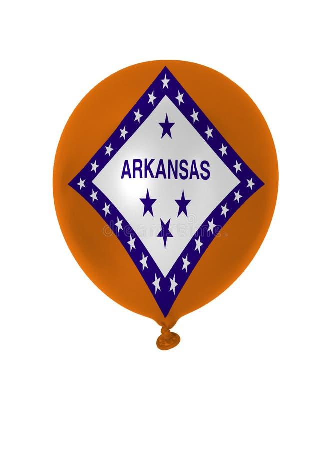Nadmuchiwany balon z Arkansas stanu flaga obrazy royalty free