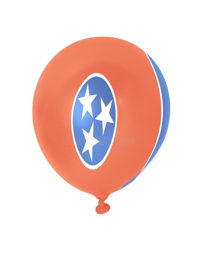Nadmuchiwany balon z Tennessee stanu flaga zdjęcia stock