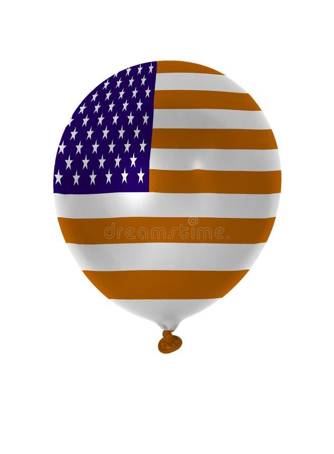 Nadmuchiwany balon z usa flaga zdjęcia stock