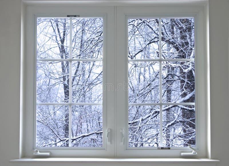 nadokienna zimy. zdjęcia royalty free