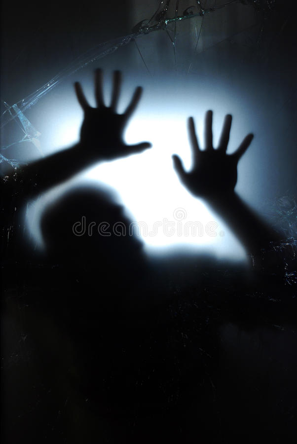 nadokienne błękitny łamać ręki obrazy stock