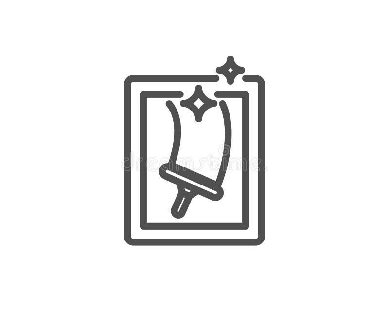 Nadokiennego cleaning linii ikona usługowy domycie ilustracji