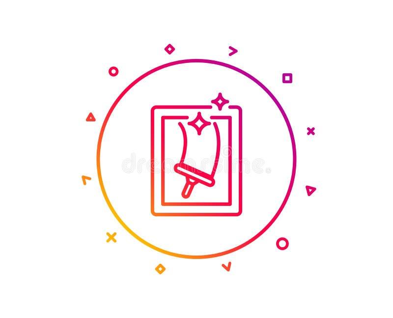 Nadokiennego cleaning linii ikona usługowy domycie wektor royalty ilustracja