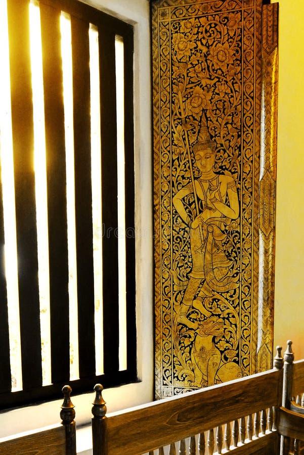 Nadokienny deco, Antyczna Thailand świątynia zdjęcie royalty free