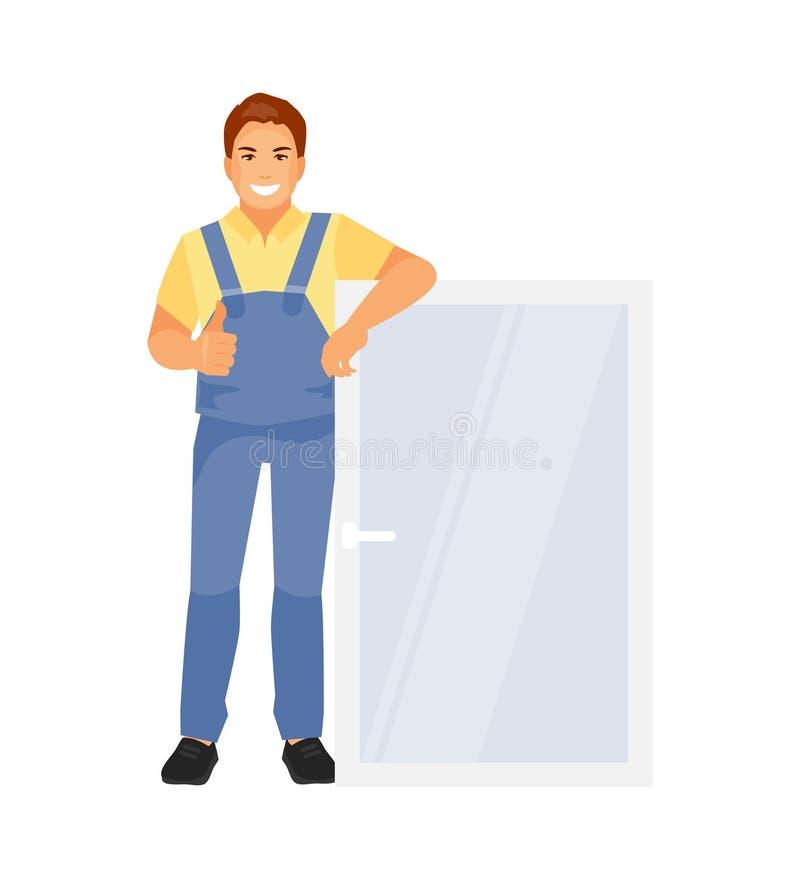 Nadokienny installer wektor ilustracja wektor