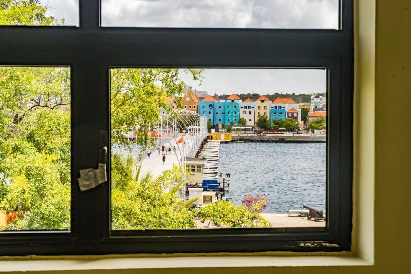 Nadokienny widok - Punda Curacao widoki zdjęcia stock