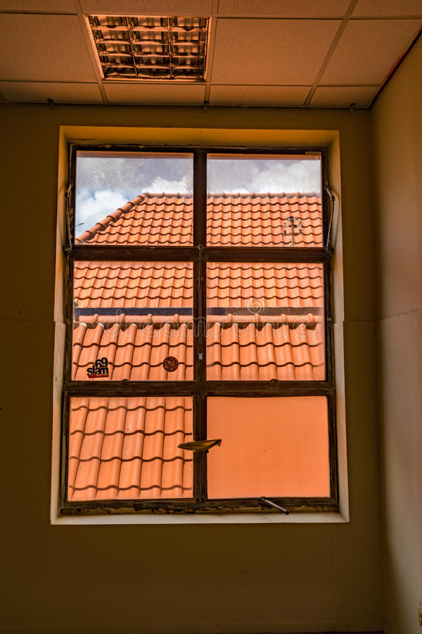 Nadokienny widok - Punda Curacao widoki fotografia stock