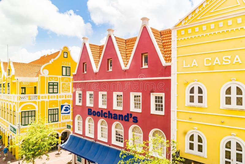 Nadokienny widok starzy budynku Punda Curacao widoki - zdjęcia royalty free