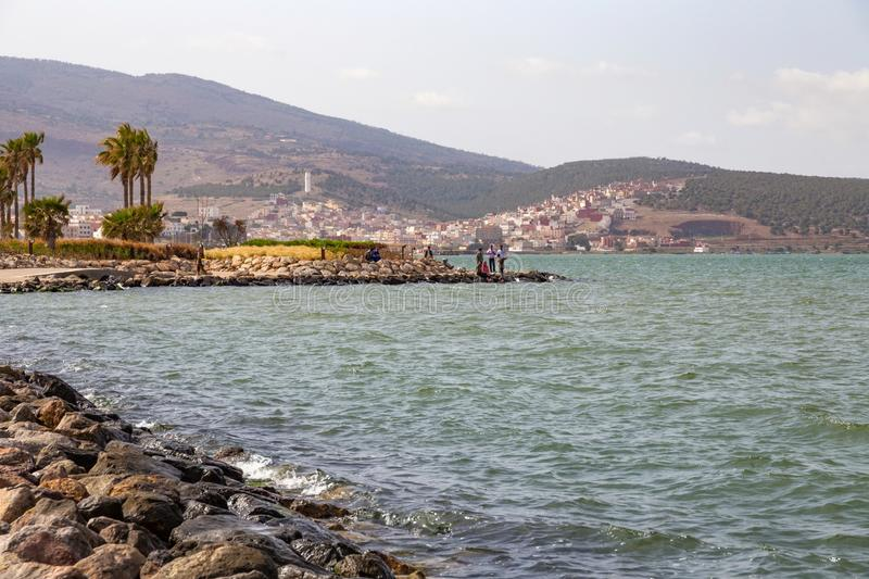 NADOR, MOROCCO - MAY 22, 2017: View of the coast in Nador. Is a coastal city in the northeastern Rif region in Morocco. It is. Separated from the Mediterranean stock photos