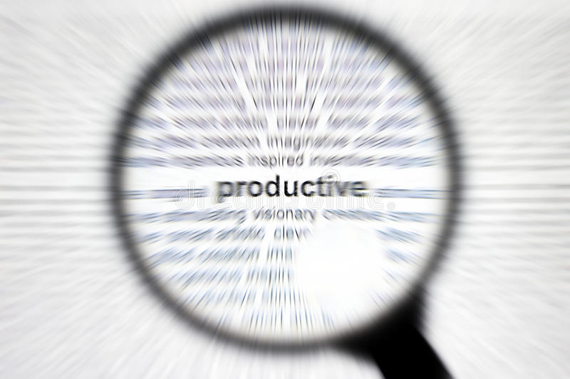 Nadruk of concentraat productief bedrijfsconcept stock afbeeldingen