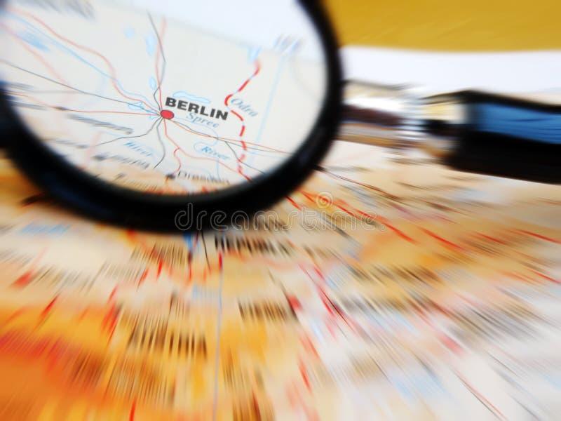 Nadruk op Berlijn, Duitsland stock foto