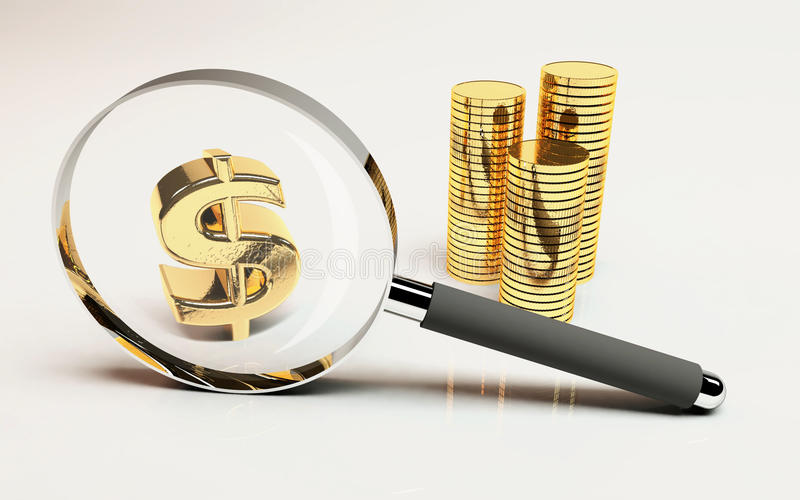 Nadruk op Geld stock illustratie