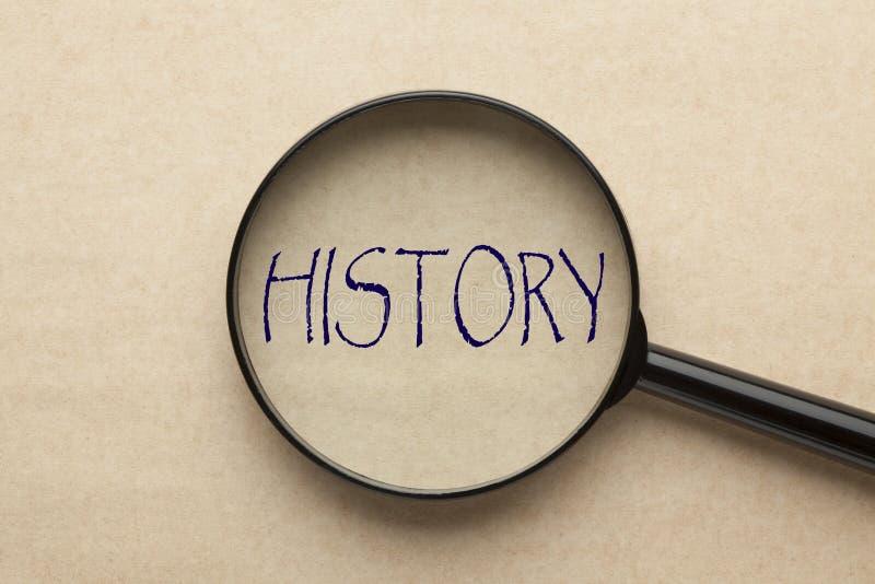 Nadruk op Geschiedenis stock afbeeldingen